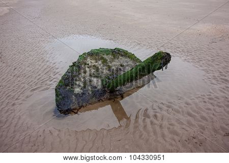 Old Post Or Groyne On The Beach, Longniddry Bends, Edinburgh, Scotland