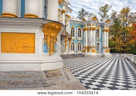 Pavilion Hermitage, Catherine Park,tsarskoye Selo (pushkin), Russia In Autumn