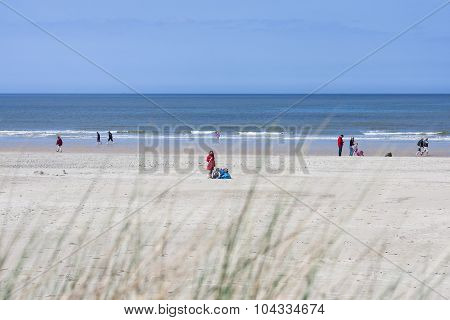 People On The Beach In Norderney, Editorial