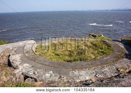 Wwii Bunkers On Crammond Island, Edinburgh, Scotland