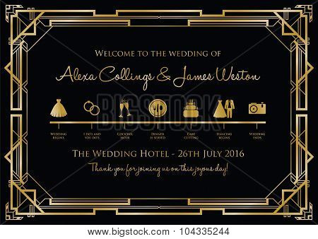 wedding timeline background gatsby