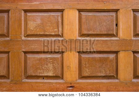 Wood Carved Texture Used Decorated Wall Background