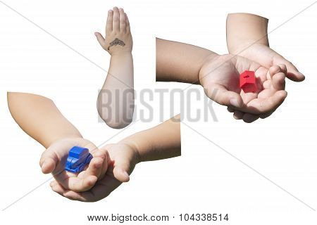 Collage Childrens Hands