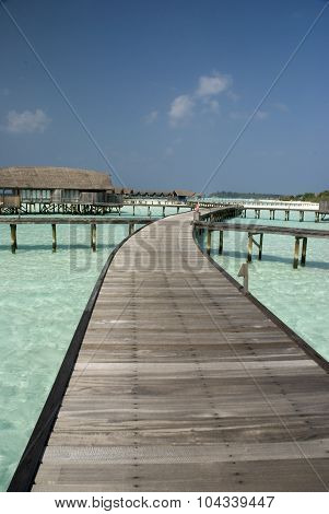 Jetty at Maldives