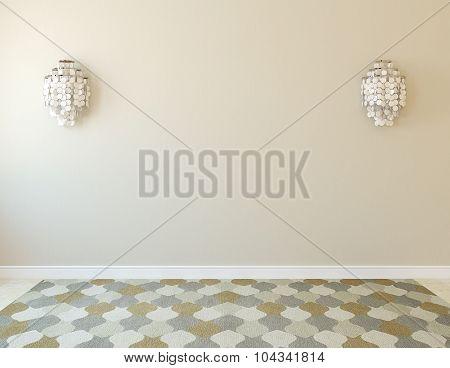 Empty Room. 3d rendering.