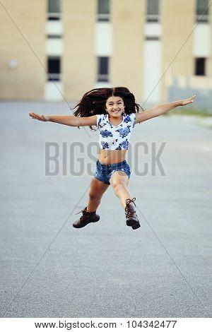 Happy girl last day of school