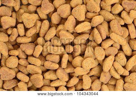 macro of cat food background