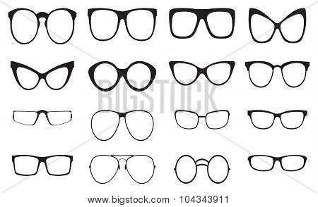 Eyeglasses silhouette set