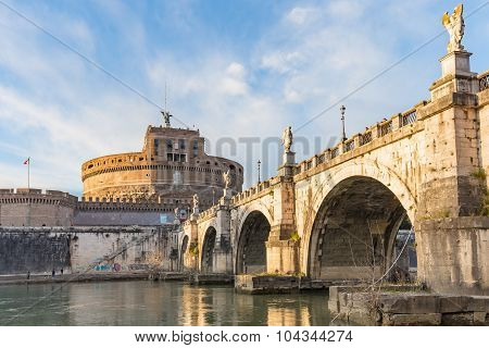 Sant'angelo Castle In Rome, Italy