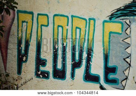 Graffiti message