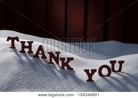 Christmas Card With Snow, Thank You