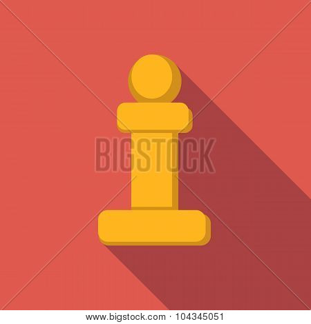 Chess pawn flat icon