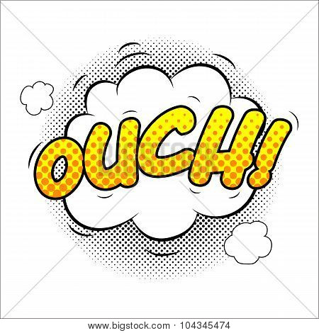 Ouch sound effect illustration