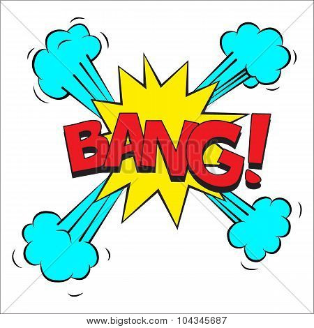 Bang sound effect illustration