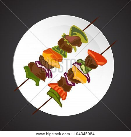 Shish-kebab illustration