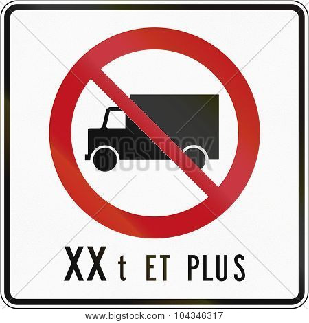 No Lorries With Weight In Canada