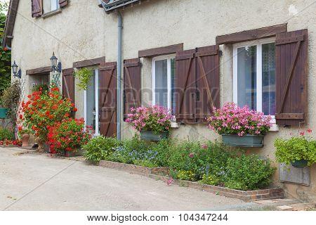 Architecture Of  Lavardin, Sarthe, Pays De La Loire, France