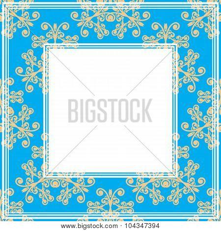 blue ornate border