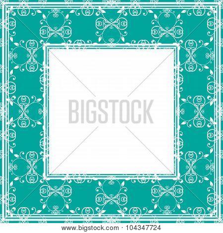 green blue border