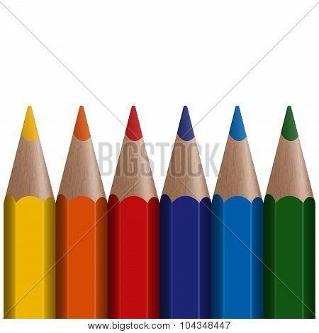 Six Colored Pens