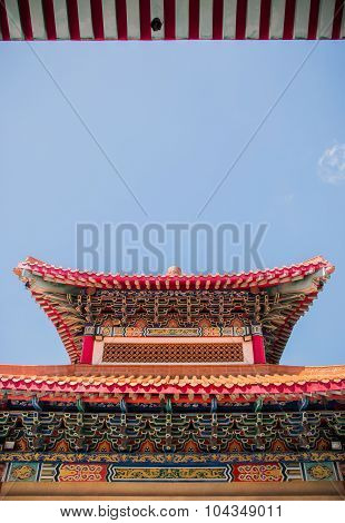 High beautiful traditional Chinese pavilion.