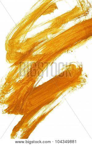 Abstract Orange Brushed Arts Background