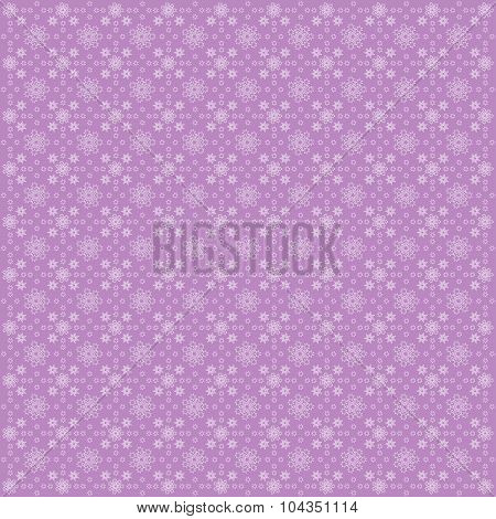 Lilac Bright Abstract Pattern With Stars