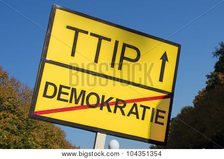 ttip protest sign