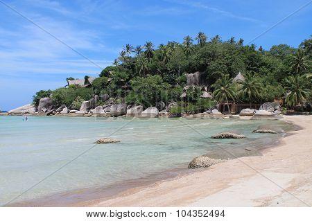 corner of white beach on Koh Tao island