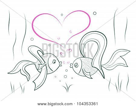 Couple In Love Fairy Goldfish