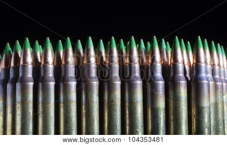 Lots Of Green Tipped Ammunition