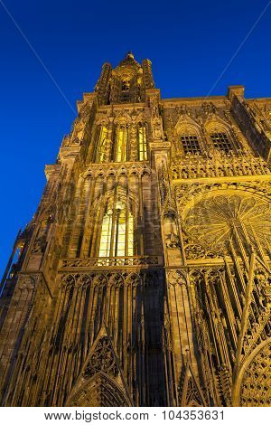 Cathedral Of Strasbourg, Bas-rhin, Alsace, France