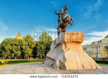 Saint Petersburg/Russia - August 11, 2015: The Bronze Horseman