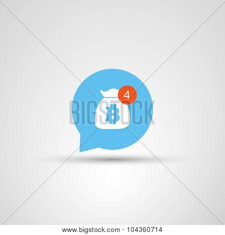 Icon Design - Need More Money - Bitcoin Concept