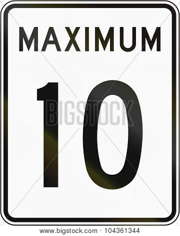 Speed Limit 10 In Canada