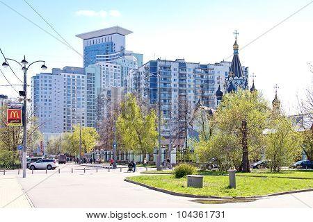 Moscow. Square  Sokolnicheskaya Zastava