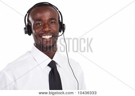 african male telephone operator