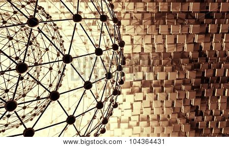 3D futuristic technology background