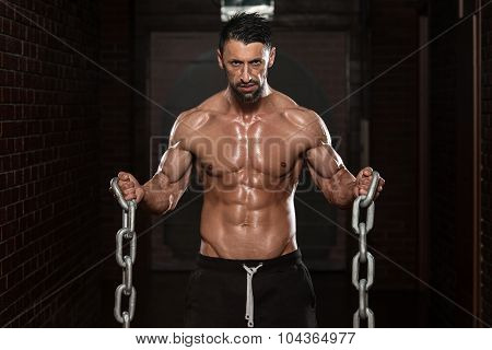 Biceps Exercise With Chains