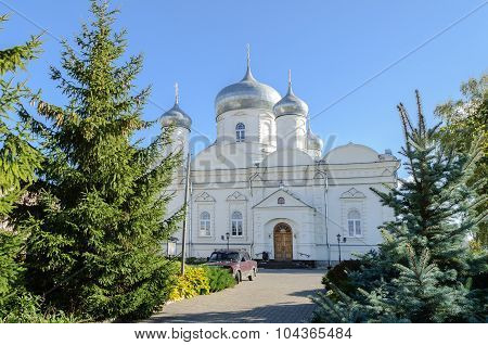 Cathedral of the Intercession in Zverin monastery Veliky Novgorod