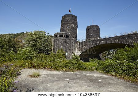 Remagen - The Remagen Bridge With Old Roadway