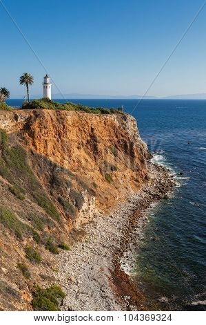 Beautiful scenery of Point Vicente Lighthouse. Rancho Palos Verdes, California, USA.