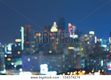 Abstract blurred bokeh city office bulding light