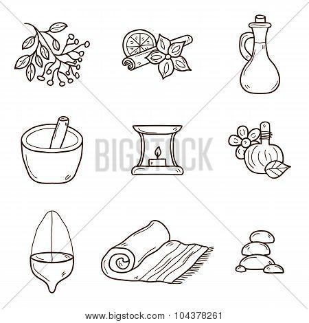 Ayurveda icons