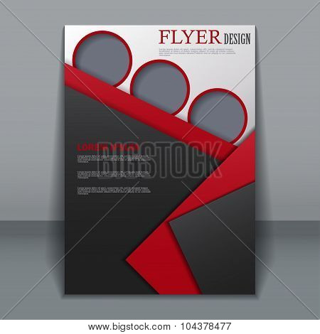 Vector flyer template for design