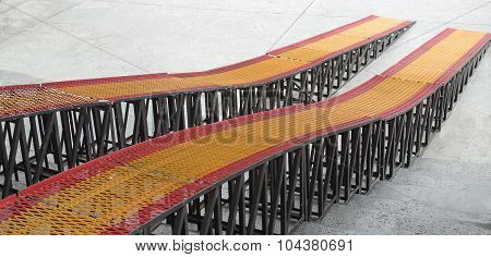 Metal Vehicle Ramps- long, portable.