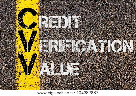 Business Acronym Cvv As Credit Verification Value