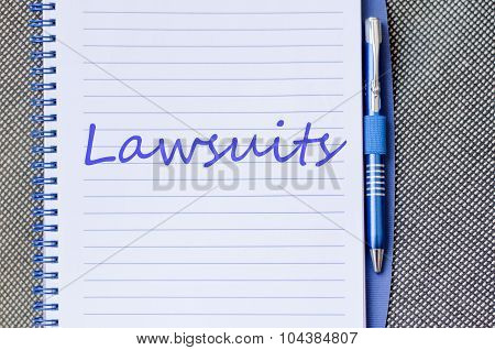 Notebook text concept