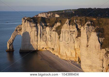 Aval Cliff, Etretat, Cote D'albatre, Pays De Caux, Seine-maritime Department, Upper Normandy Region,