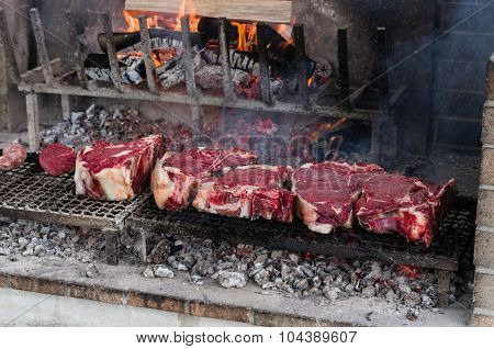 Bbq With Florentines Steaks